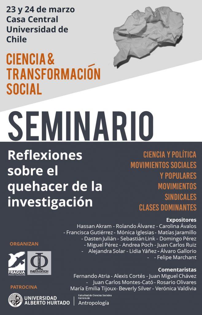 Seminario Reflexiones sobre el quehacer de la investigación