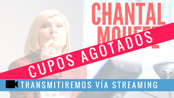 [EVENTO] Chantal Mouffe dictará cátedra abierta en Chile
