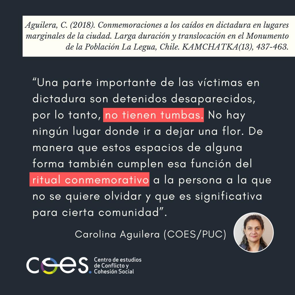 """Carolina Aguilera: """"Los memoriales conmemorativos buscan que se materialice el reconocimiento"""""""